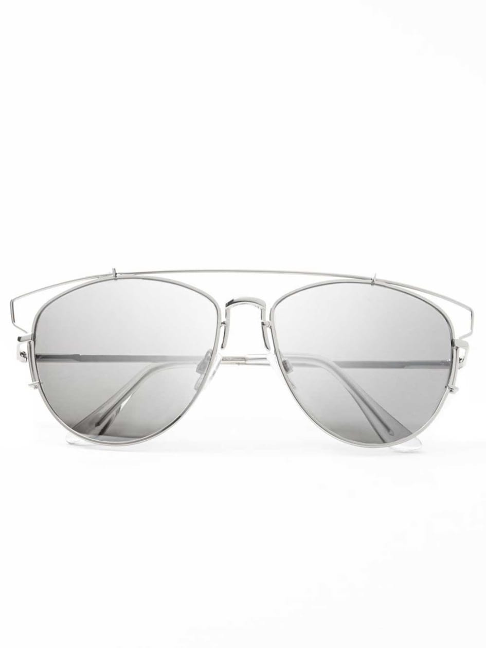 Retro Silver Sun Glasses