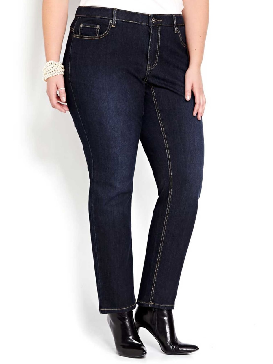 L&L Curvy Dark Wash Petite Sculpting Jean