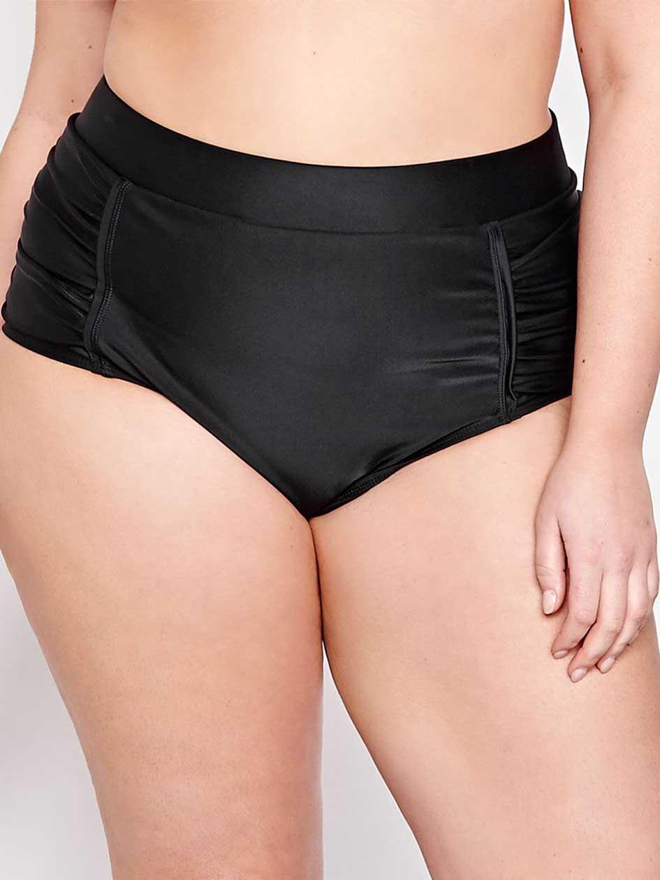 Cactus High Waist Bikini Panty.Black.X