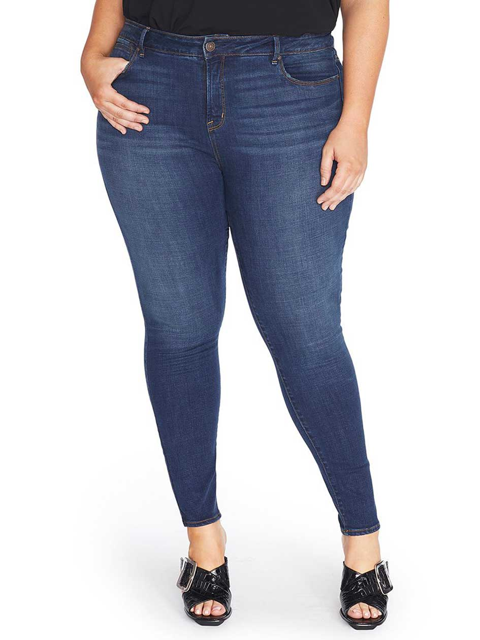 Rebel Wilson The Pin Up Super Skinny Faded Jean
