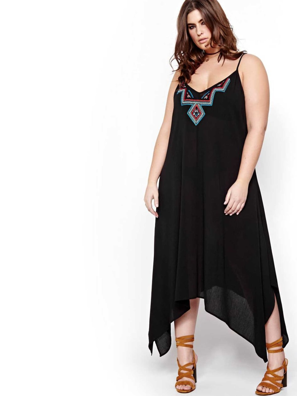L&L Asymmetrical Maxi Dress