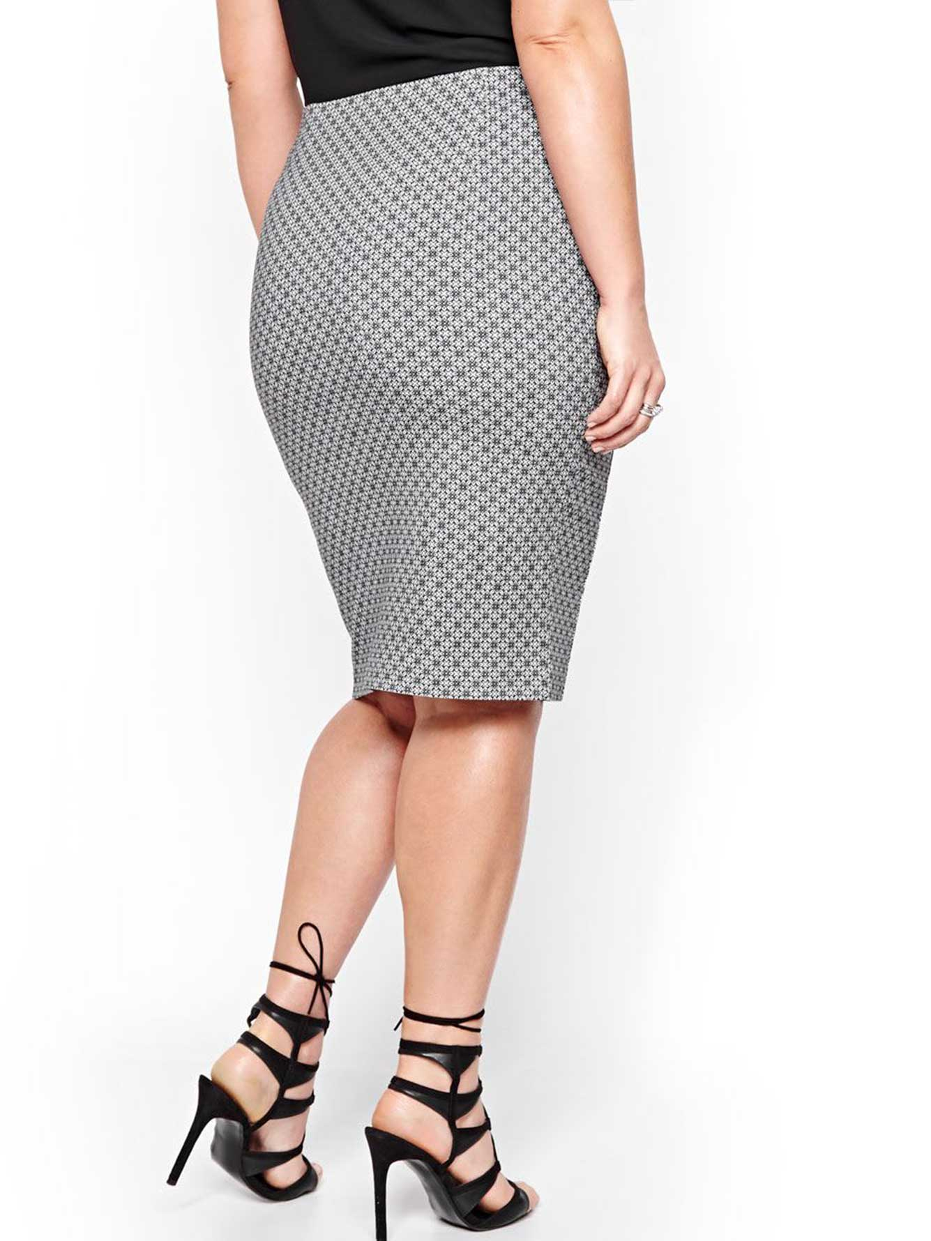 printed pencil skirt addition