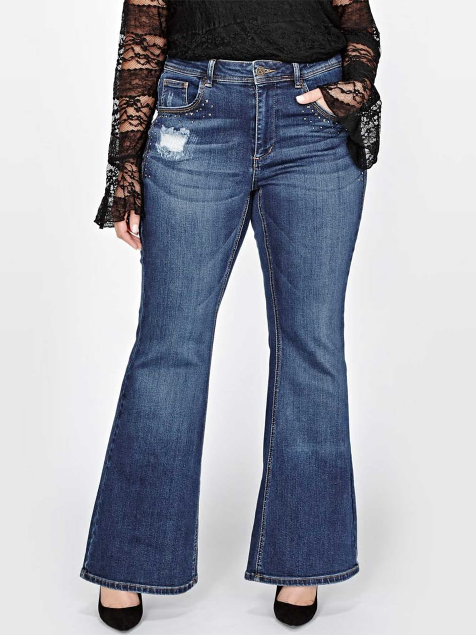 L&L Fit & Flare Jeans with Jewels