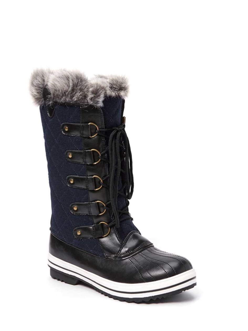 Livik Leslie Colorful Faux Suede Winter Boot with Faux Fur