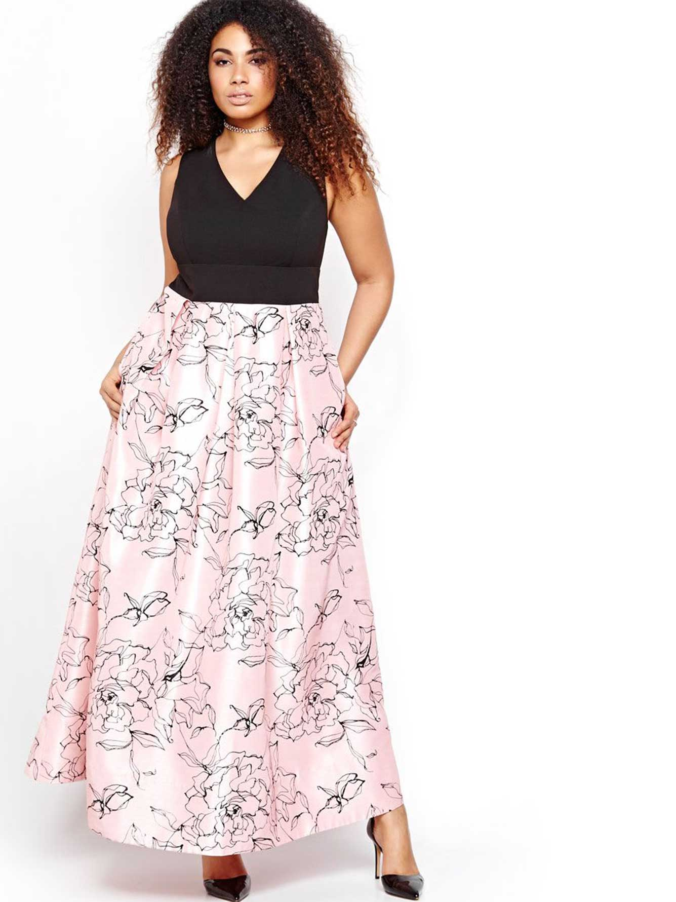 robe maxi imprim floral addition elle. Black Bedroom Furniture Sets. Home Design Ideas