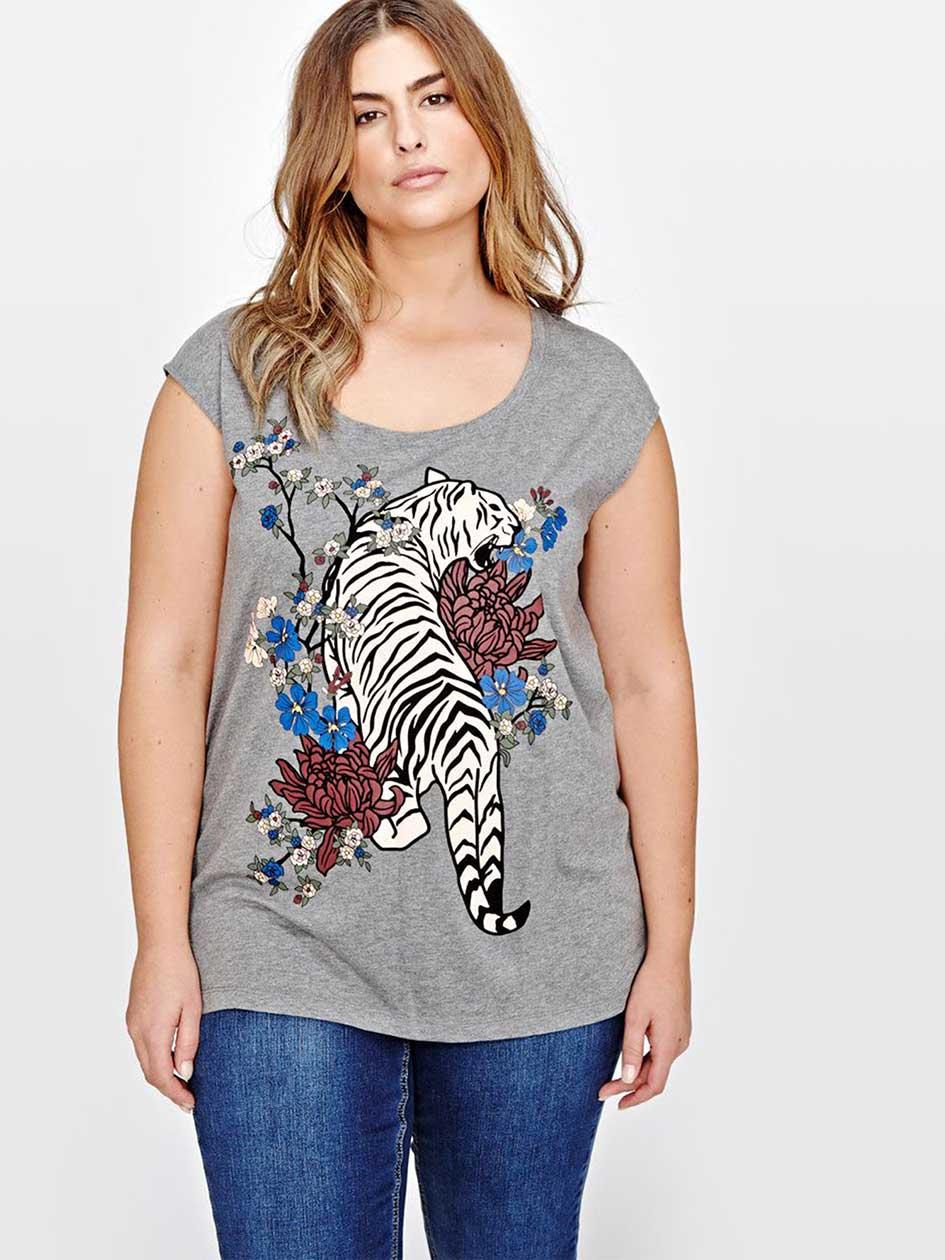 L&L Tiger Printed Sleeveless Top