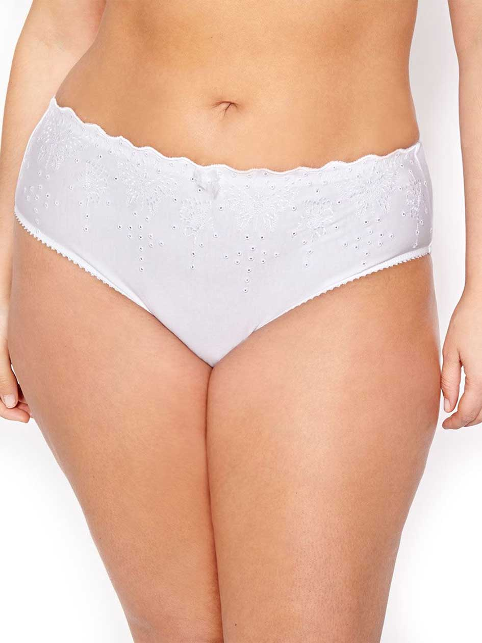 High Cut Panty with Embroidery - Déesse Collection
