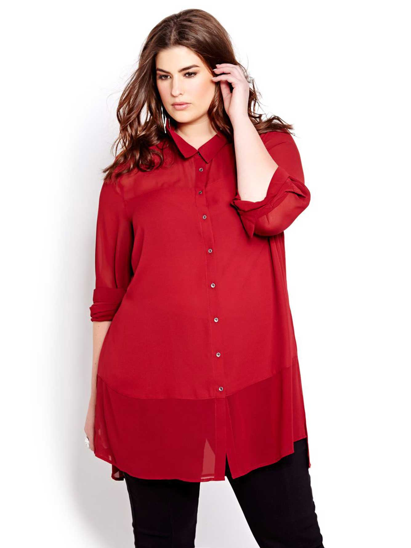 Overstock uses cookies to ensure you get the best experience on our site. If you continue on our site, you consent to the use of such cookies. Learn more. OK Tunic Tops. Clothing Simply Ravishing Women's Scoop Long Sleeve Pleated Flare Blouse Top Tunic Shirt (Size: S-5X).