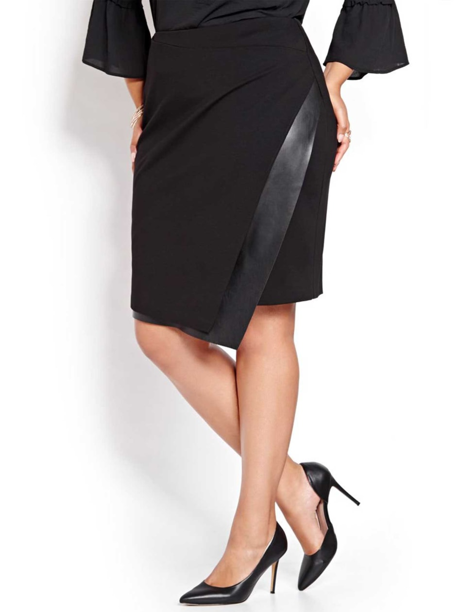 Michel Studio Asymmetrical Wrap Skirt