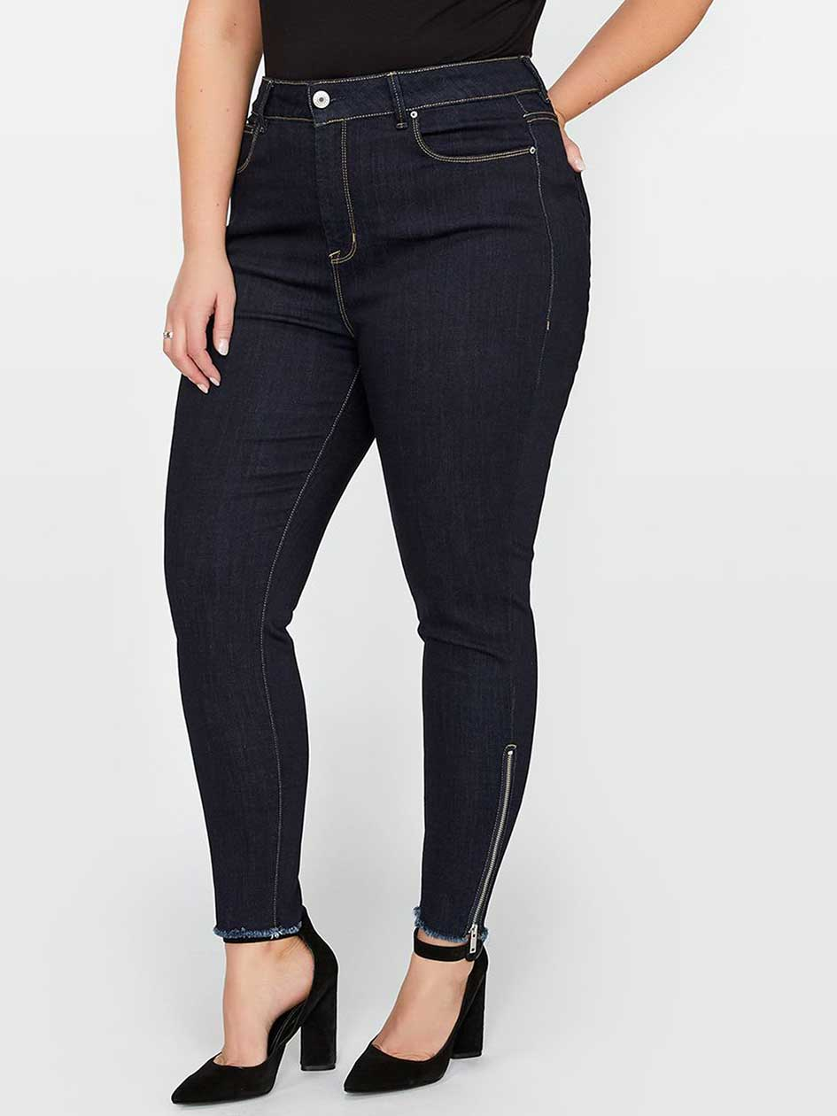 Rebel Wilson The Icon High Rise Side Zip Ankle Jegging