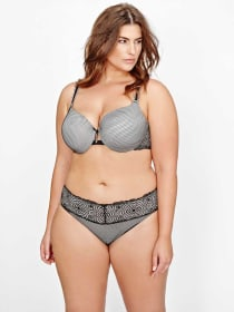 Ashley Graham Lace & Fishnet Icon Bra, Sizes G & H