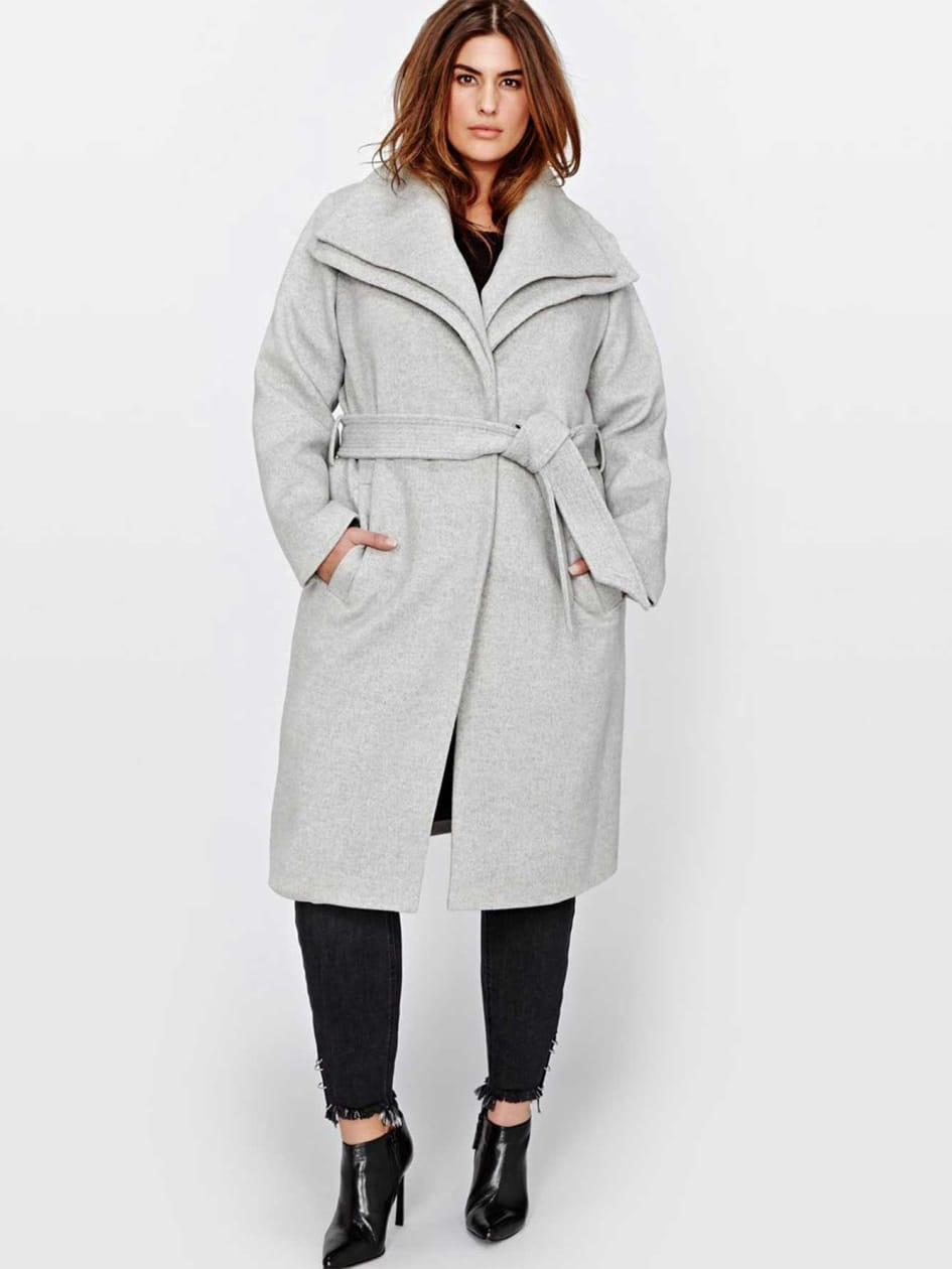 Marcona Double Wrap Wool Blend Coat