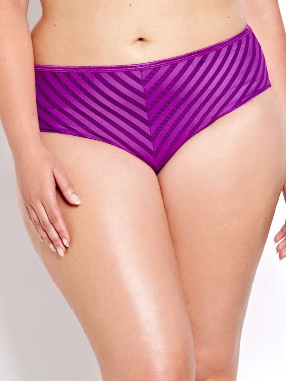 High Cut Sheer Desire Striped Panty - Collection Déesse