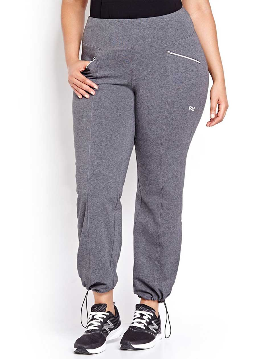 Nola Petite Grey Straight Yoga Pant