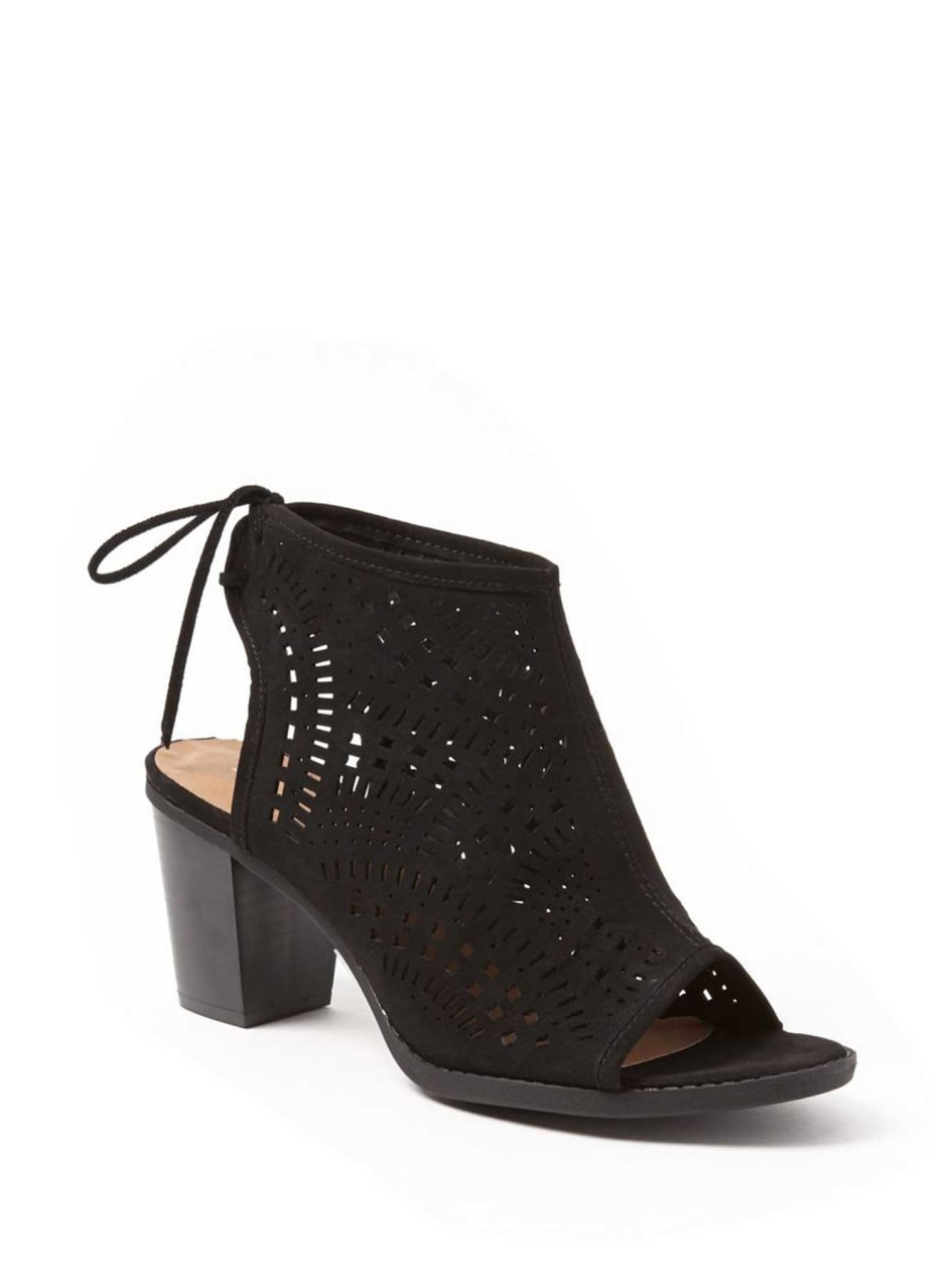 Michelle Perforated Open Toe Bootie