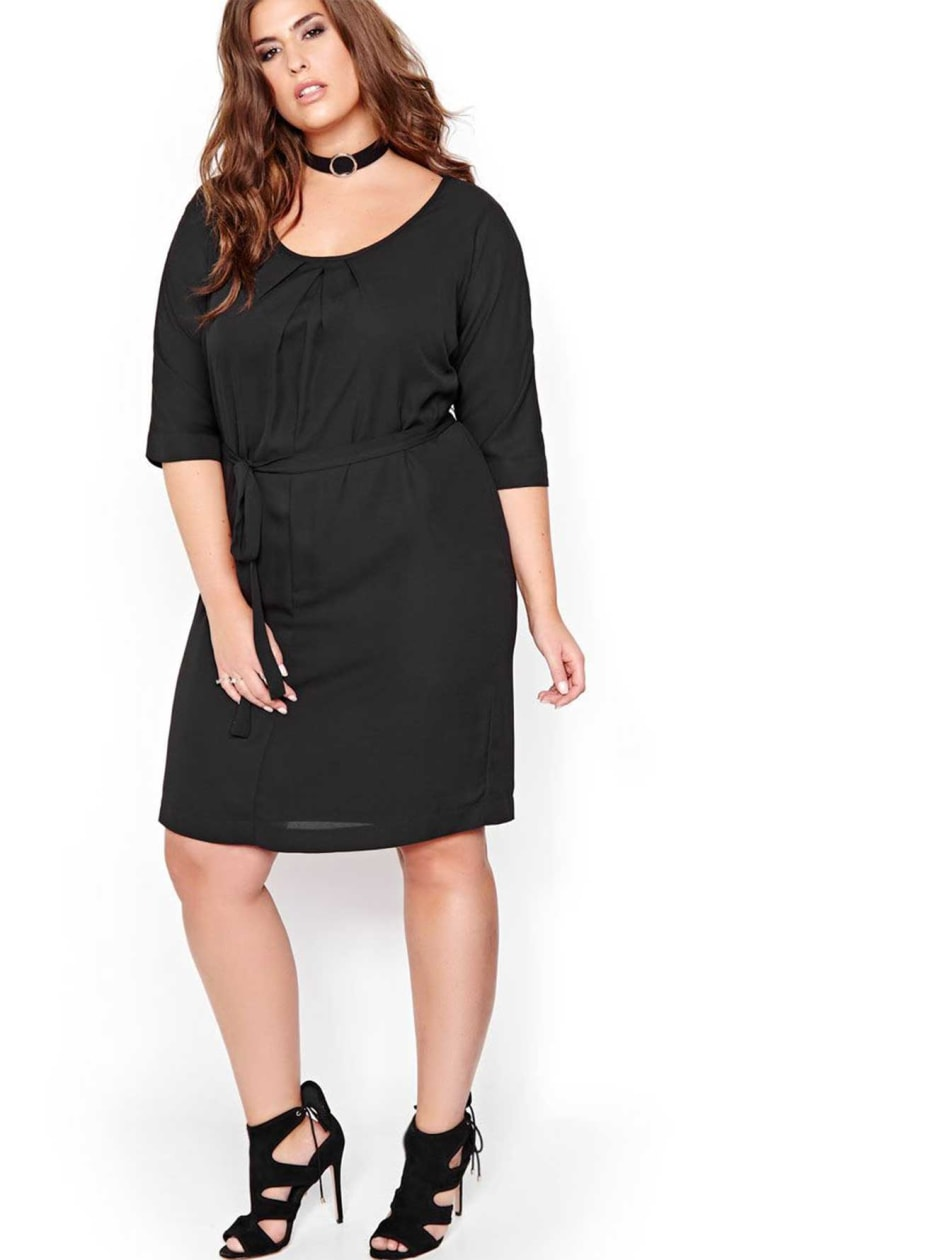 L&L Dolman Sleeve Dress with Self-tie Sash