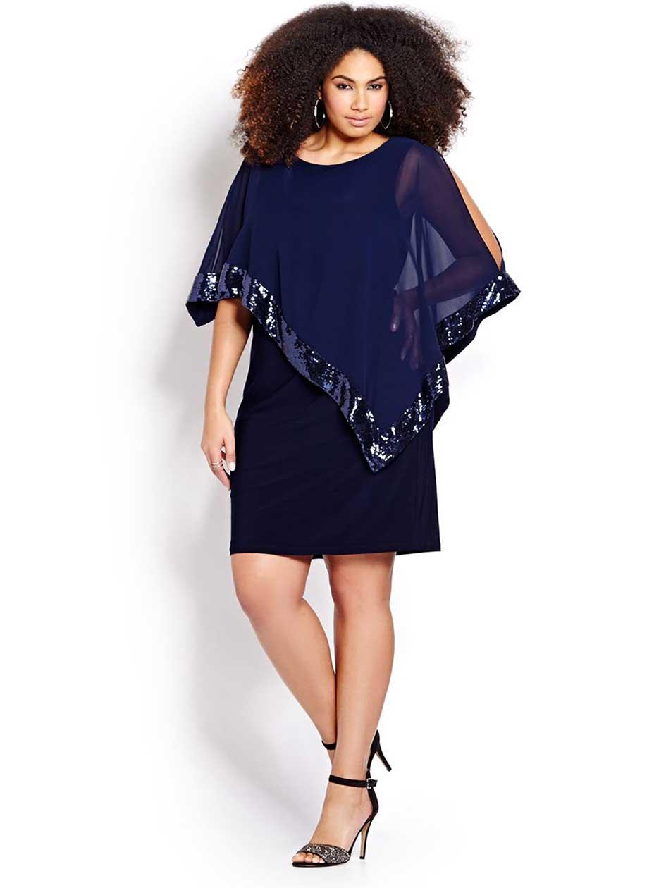 New Noir Sequined Dress