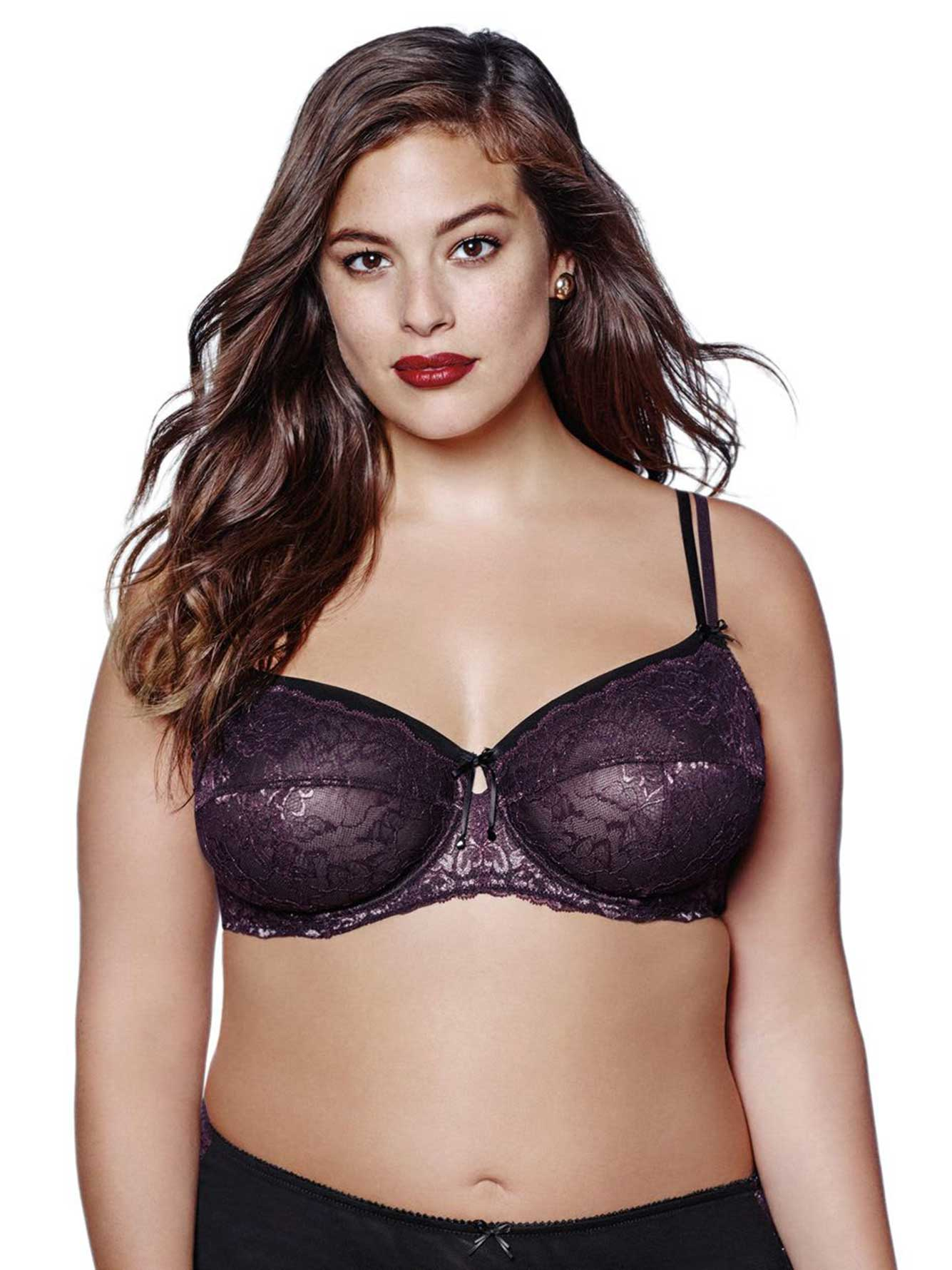 Ashley Graham Unpadded Lace Bra