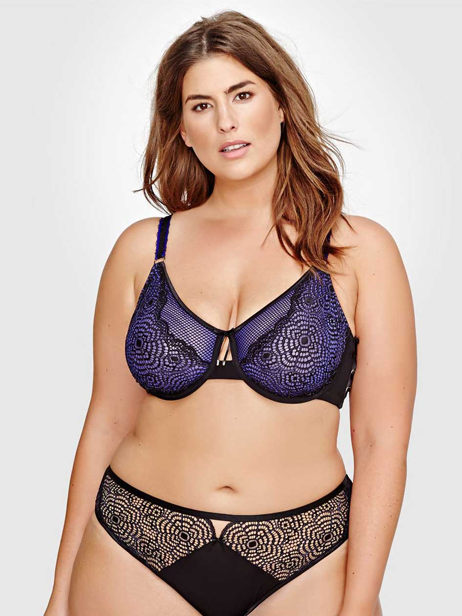 Ashley Graham Fatal Attraction Bra with Laced Up Side