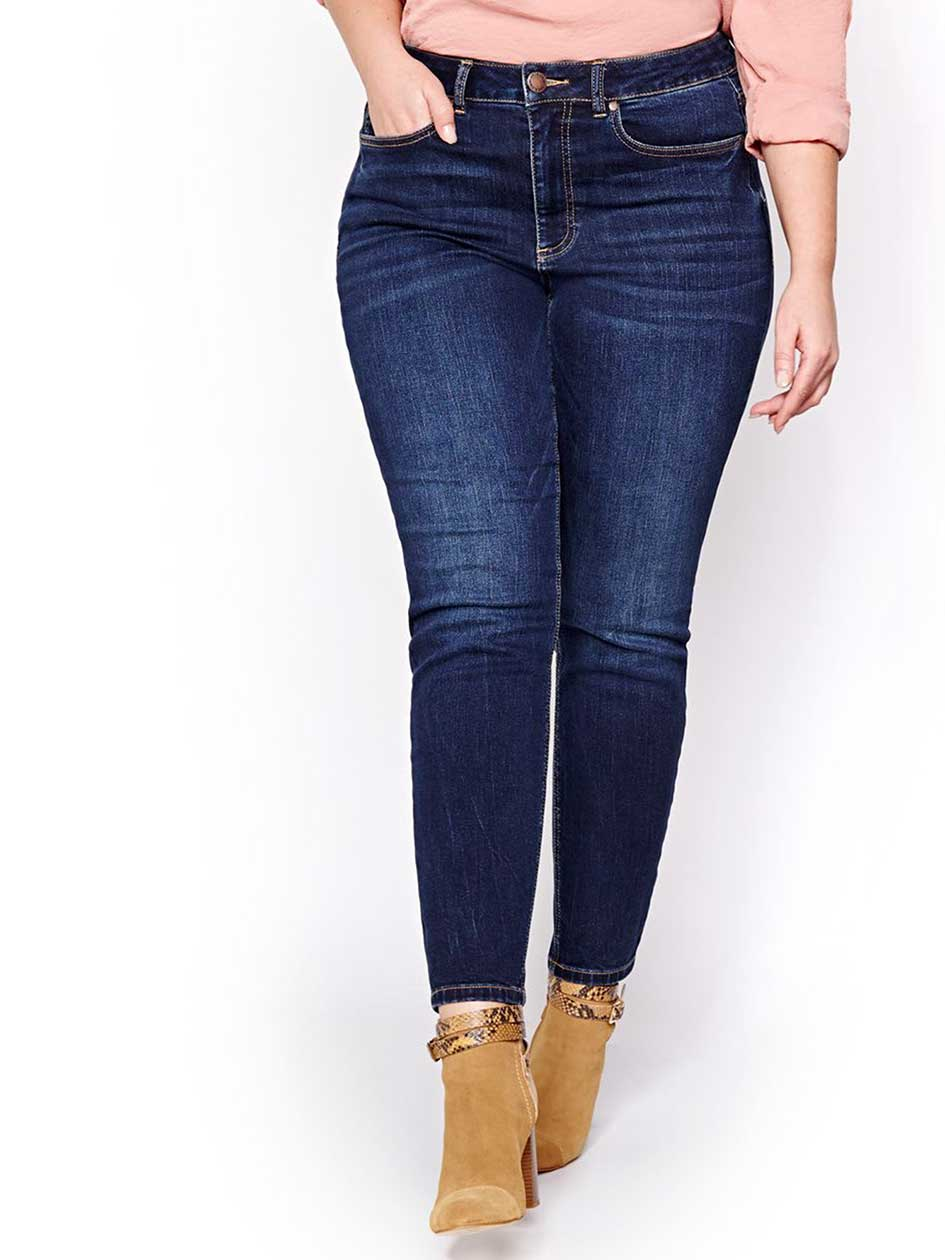 L&L Authentic Dark Wash Regular Rise Skinny Jeans