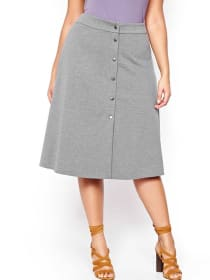 L&L Heather Skirt with Snaps