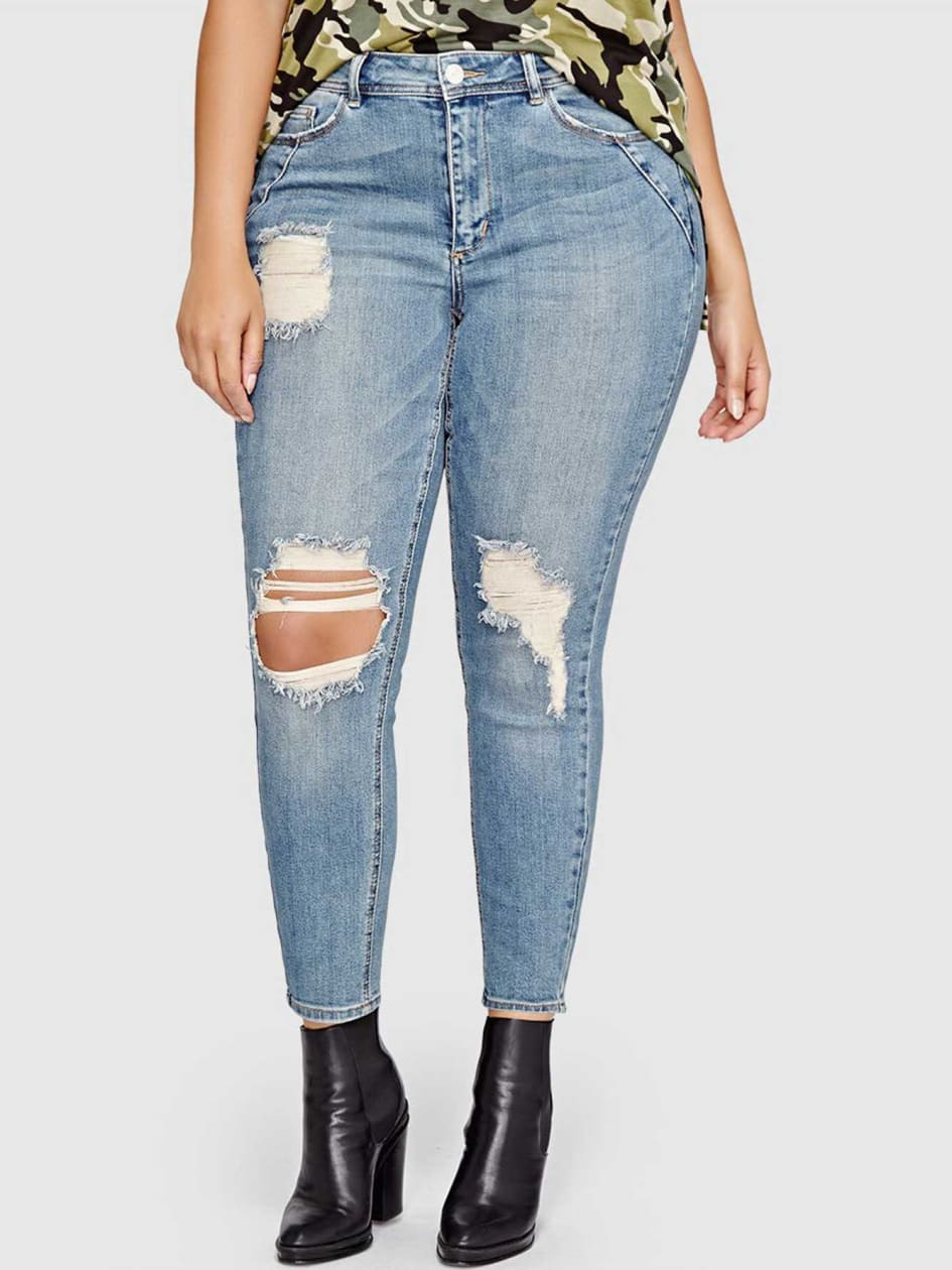 L&L Authentic Skinny Jean with Destroyed Details