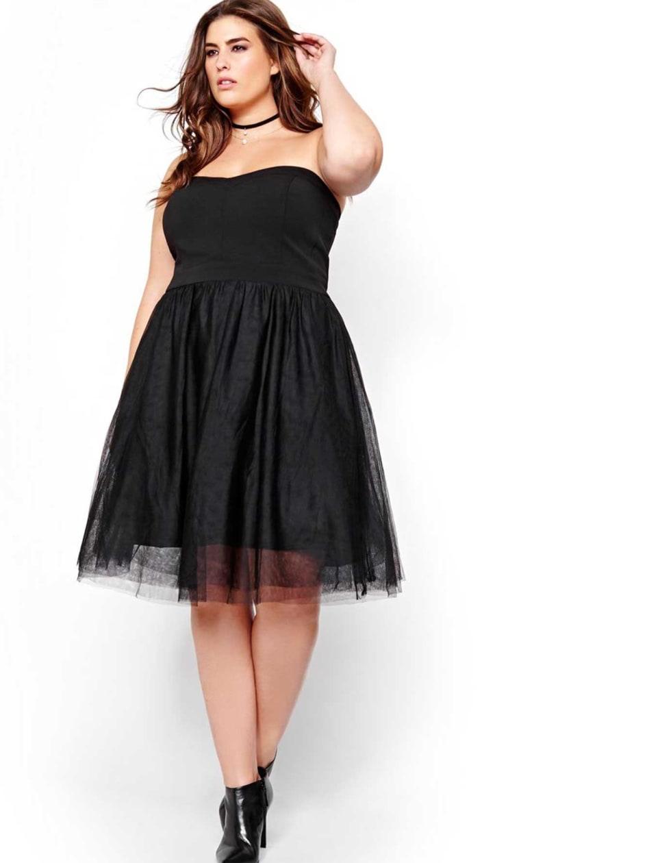 Michel Studio Bustier Crinoline Dress