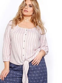 L&L Button-up Striped Shirt