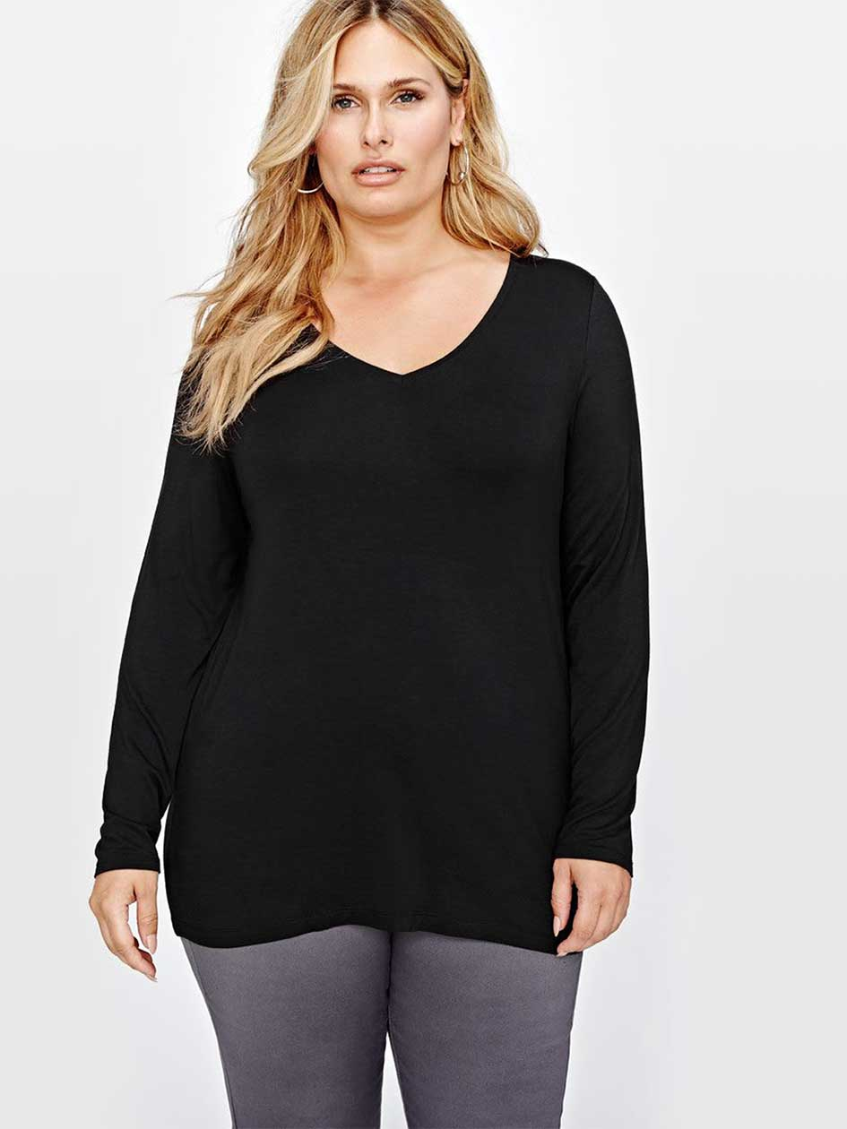 Michel Studio Long Sleeves Modern T-Shirt