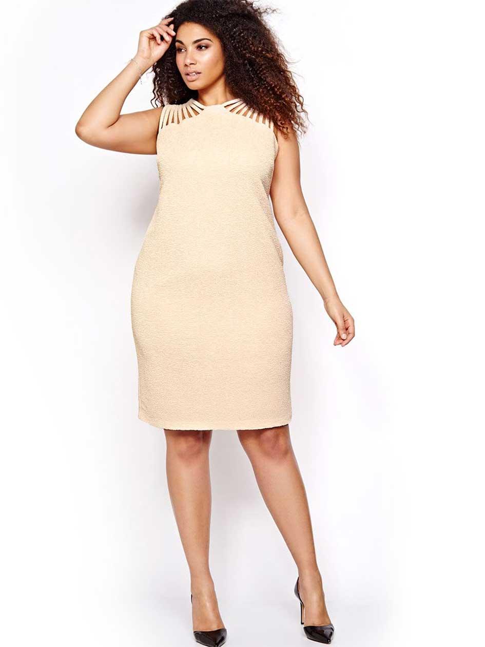 Michel Studio Multi-Strap Bodycon Dress