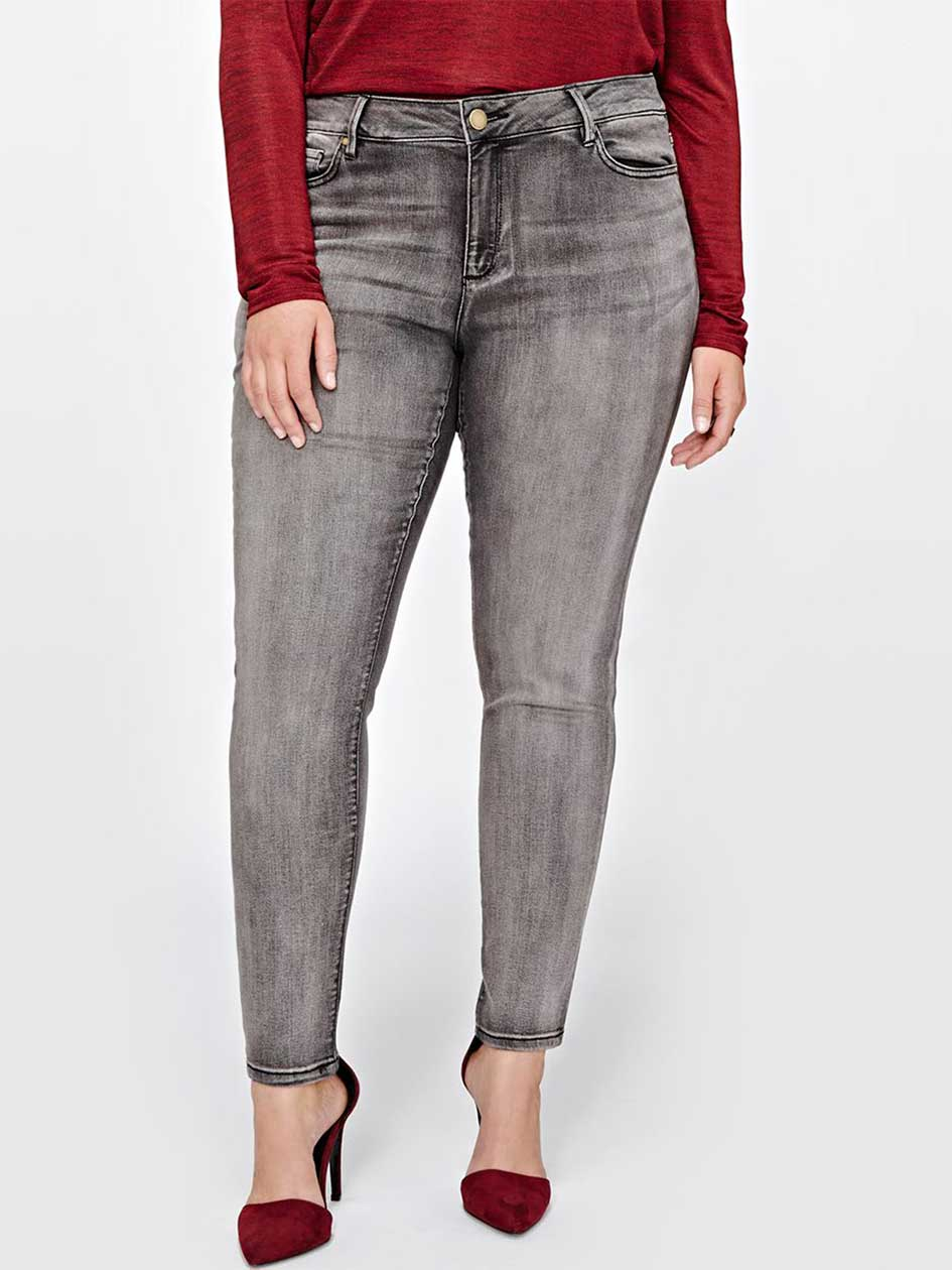 Rachel Roy Gray Icon Skinny Denim