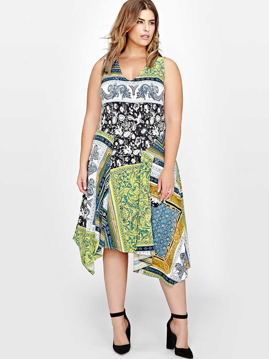 Rachel Roy Scarf Print Dress