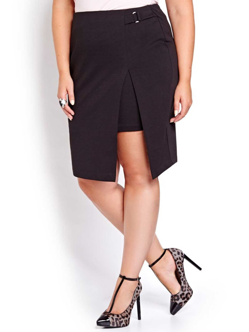 Michel Studio Pencil Skirt with Side Slit