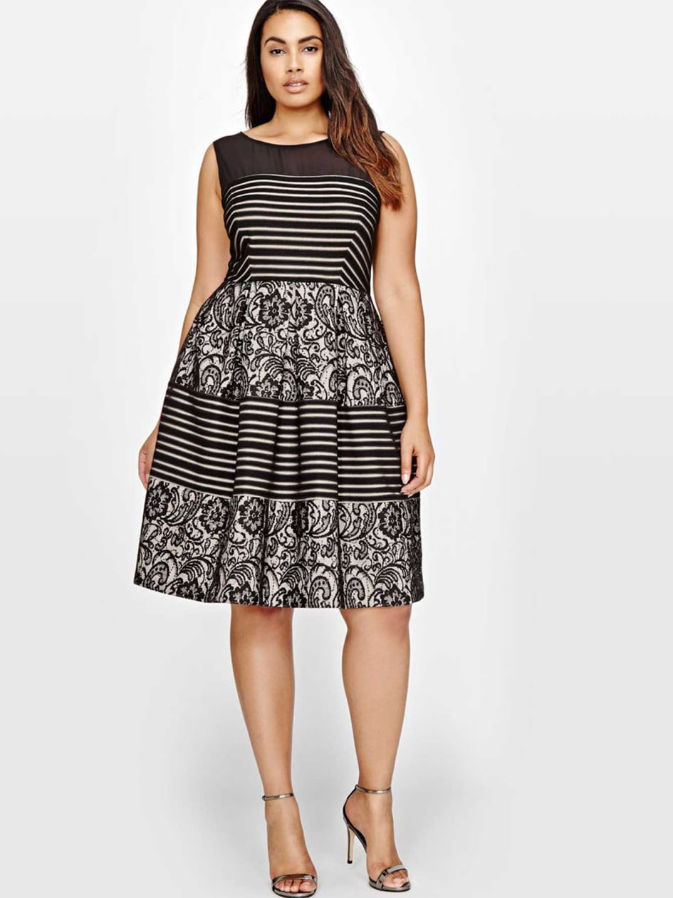 Michel Studio Fit & Flare Printed Dress