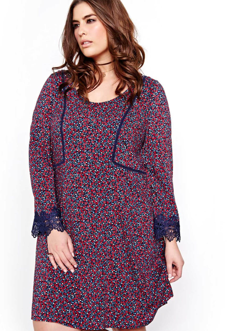 L&L Floral Dress with Bell Sleeves