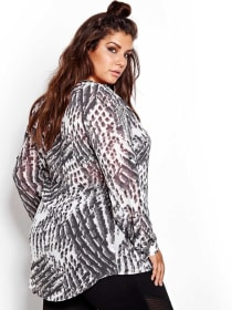 Nadia Aboulhosn High Low Printed Tunic for L&L