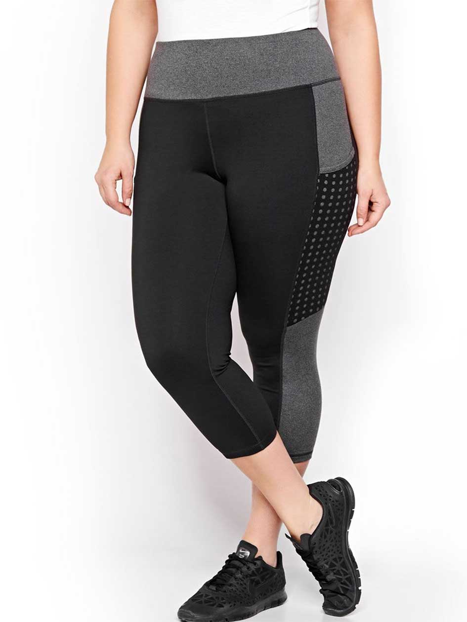 Nola Gray & Black Color Block Capri