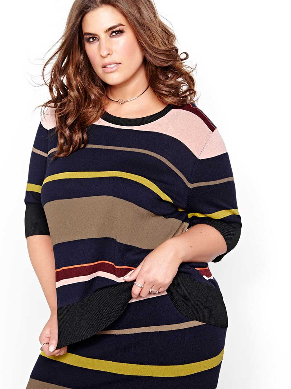 Rachel Roy Multicolor Stripe Sweater