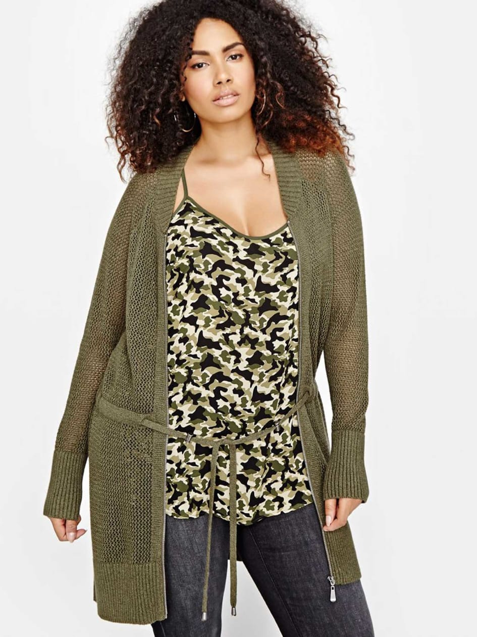 L&L Long Cardigan with Zip