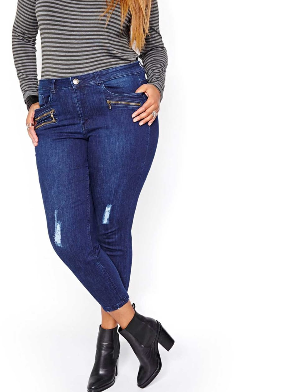 L&L Skinny Jean with Zippered details