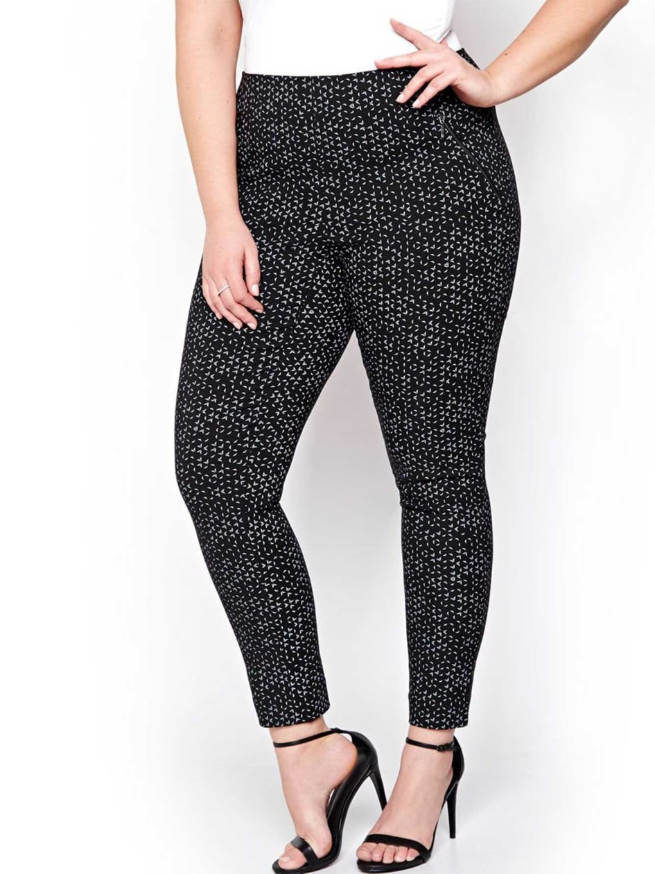 Michel Studio Alexa Printed Ankle Pants