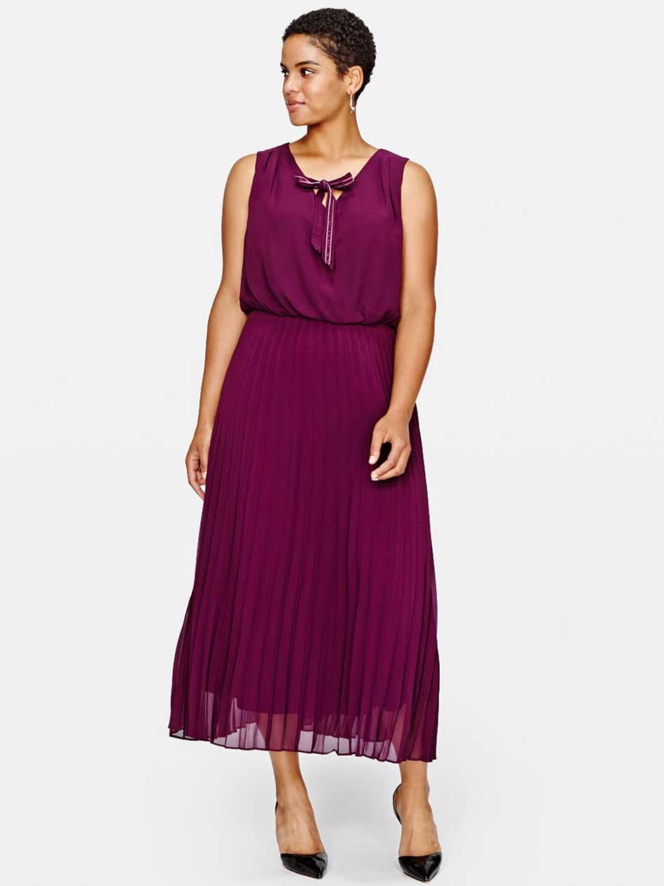 Sangria Pleated Midi Dress