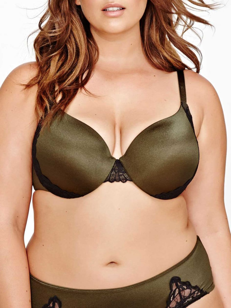 Flawless T-Ser Bra with Lace Inserts - Déesse collection