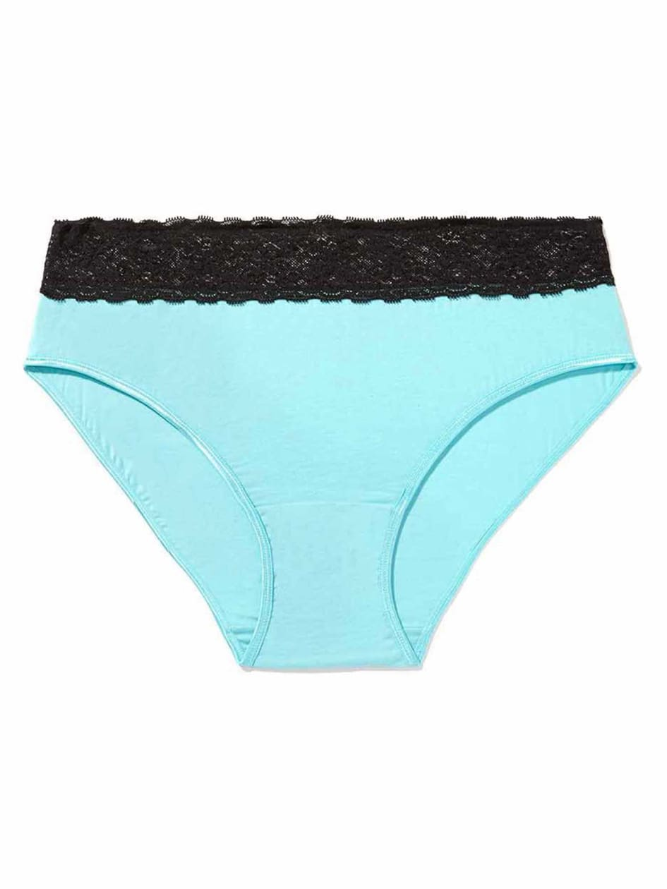 High Cut Panty with Lace Waist - Déesse Collection