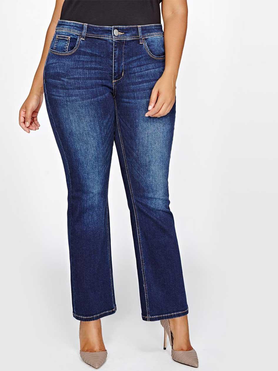 L&L Petite Barely Boot Leg Jeans