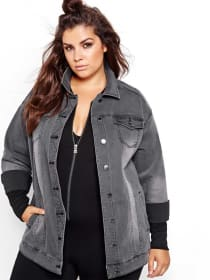 Nadia Aboulhosn Oversized Denim Jacket for L&L