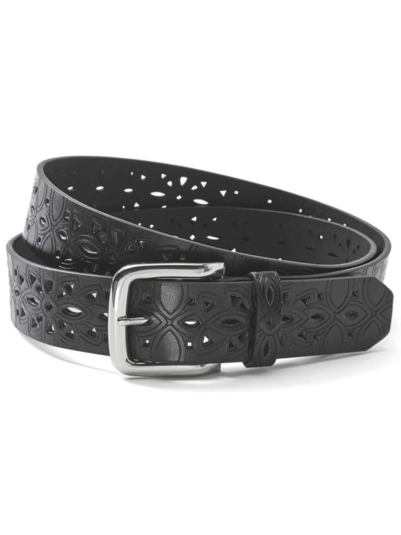 perforated faux leather belt addition