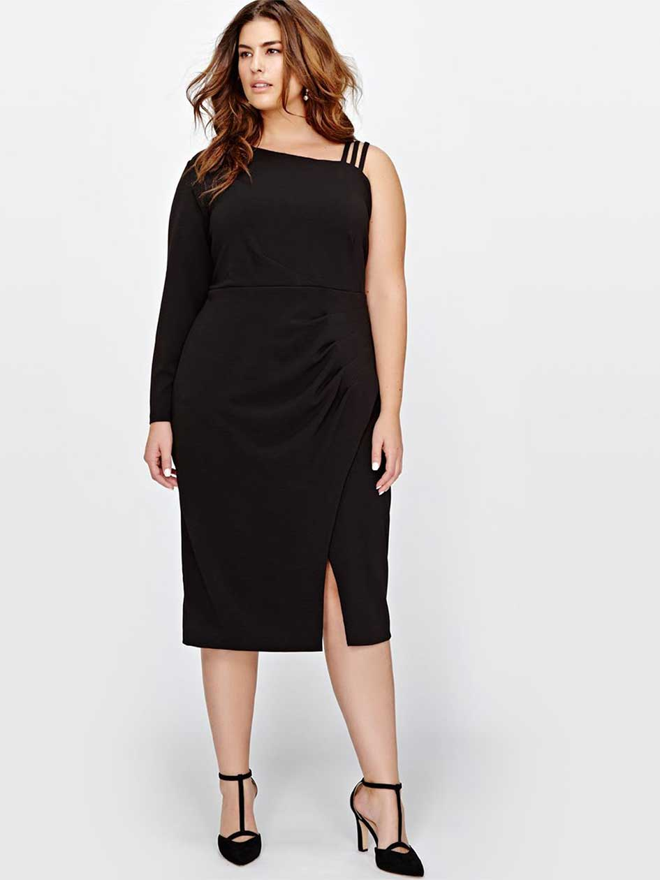Rachel Roy One Shoulder Asymmetrical Dress
