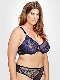 Ashley Graham Fatal Attraction Bra with Laced Up Side, Sizes G & H