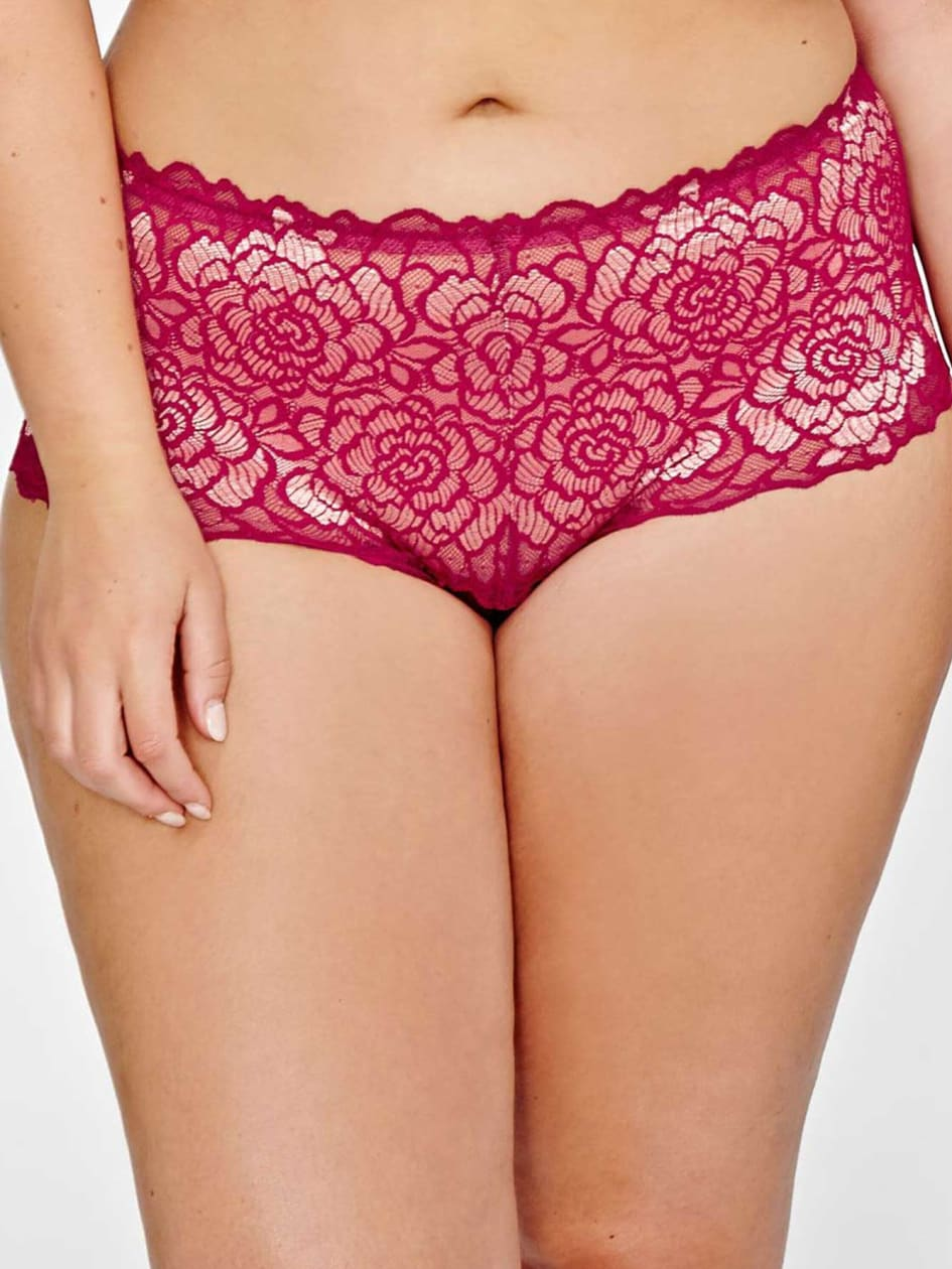 Femme Couture Panty with Floral Lace - Déesse Collection